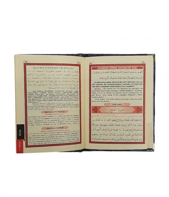 Kadife Kaplı Çantalı Yasin Kitabı Nikelaj