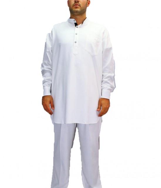 Lüks Erkek Afgan Takımı - Beyaz