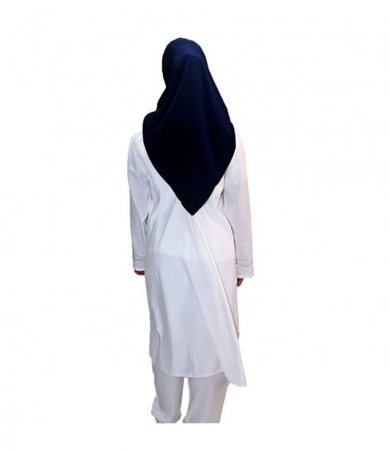 Bayan Sırma Desenli Hac Umre Kıyafeti