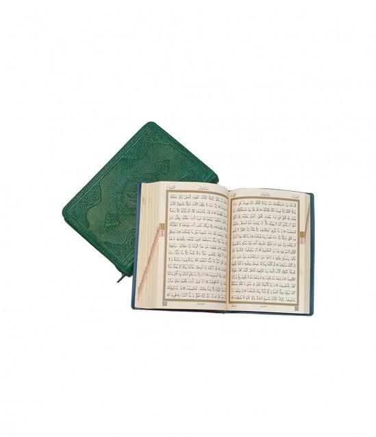 Çanta Boy Fermuarlı Kur'an-ı Kerim Yeşil