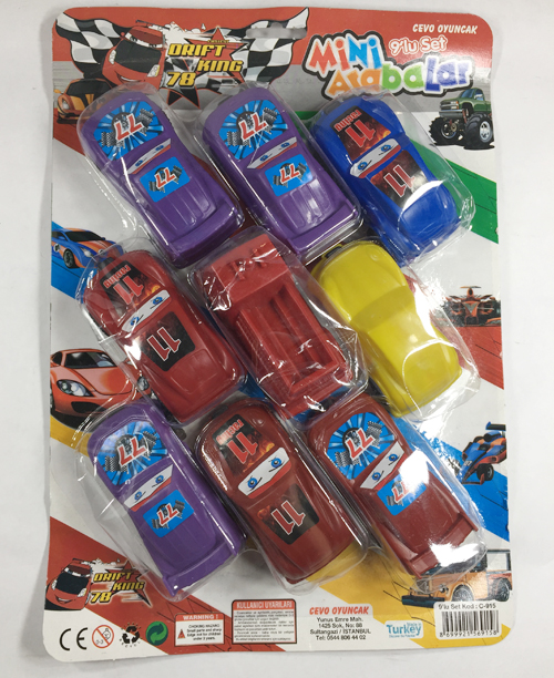Renkli Araba Seti