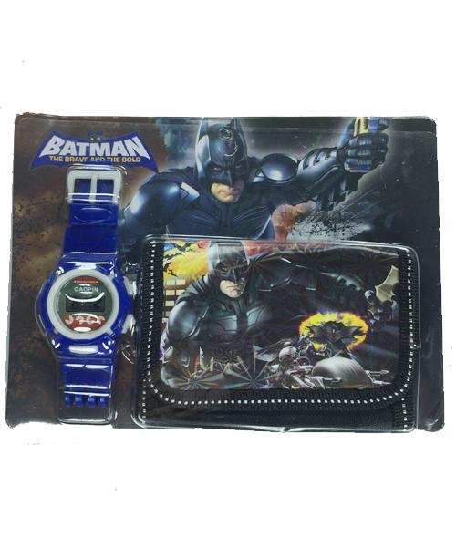 Batmanlı Çocuk Saat Cüzdan Seti