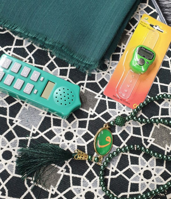 Bayan Namaz Öğreten Set Yeşil Payitaht Seccade