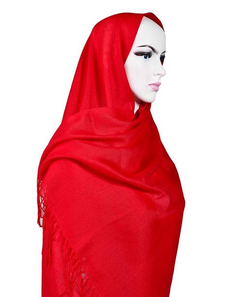 Şal - Pashmina - Kırmızı