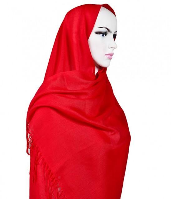 Pashmina Şal - Kırmızı - 10 Adet