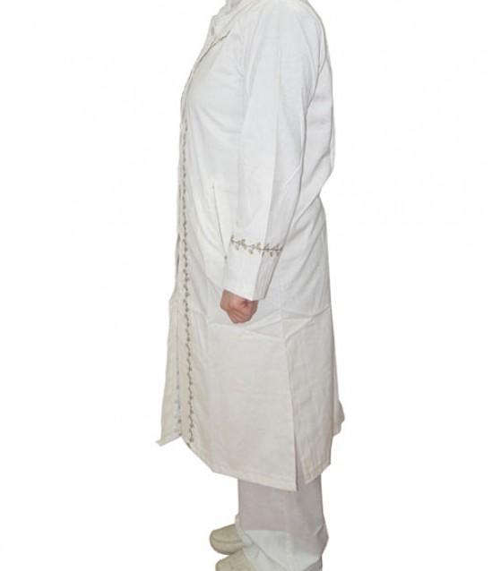 Gül Motifli Bayan Hac ve Umre Kıyafeti