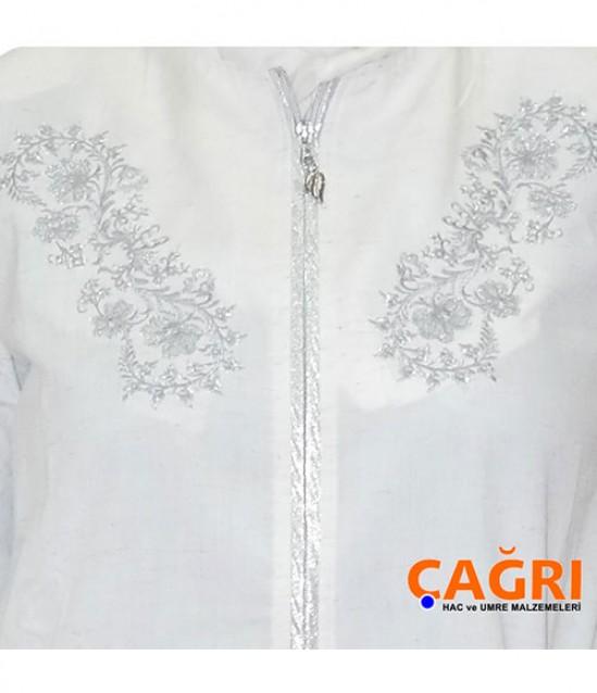 Gümüş Motifli Bayan Hac ve Umre Kıyafeti