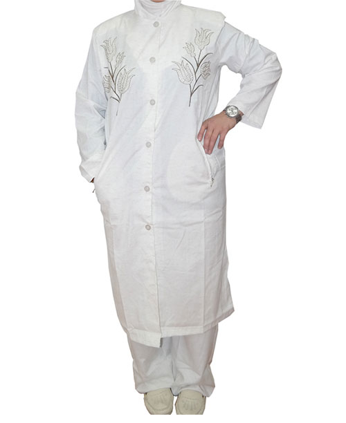 Lale Motifli Bayan Hac ve Umre Kıyafeti