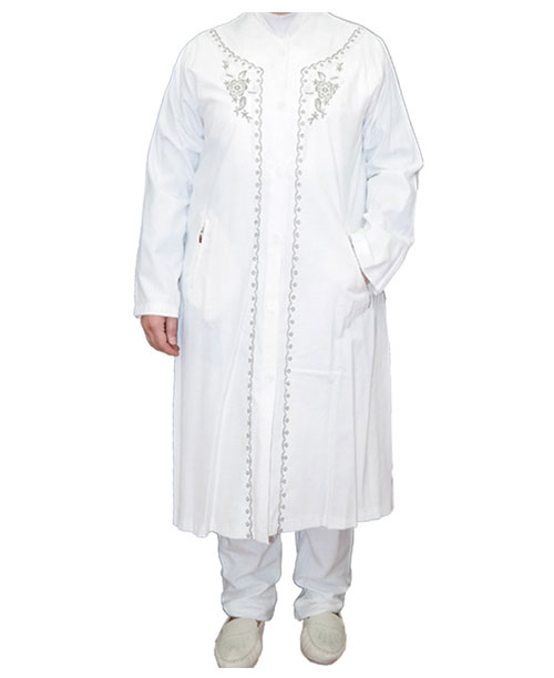 İşlemeli Bayan Hac ve Umre Kıyafeti