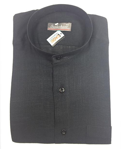 Hakim Yaka Keten Erkek Gömlek - No:6016