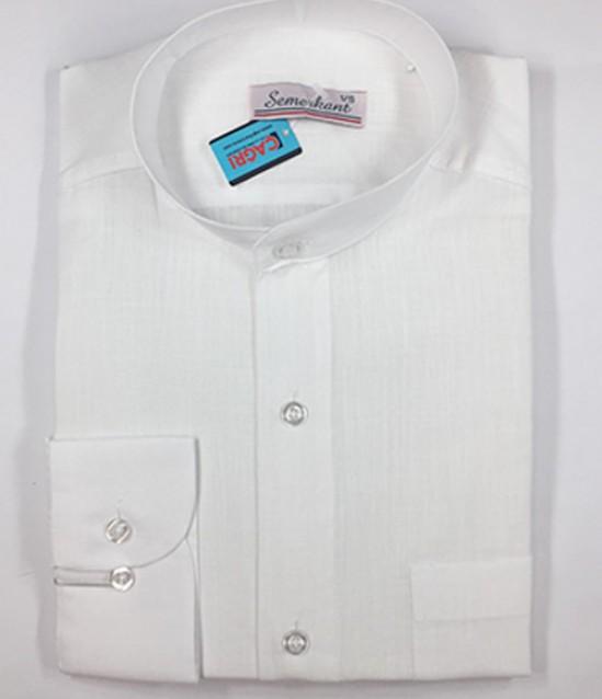 Hakim Yaka Keten Erkek Gömlek - No:5999
