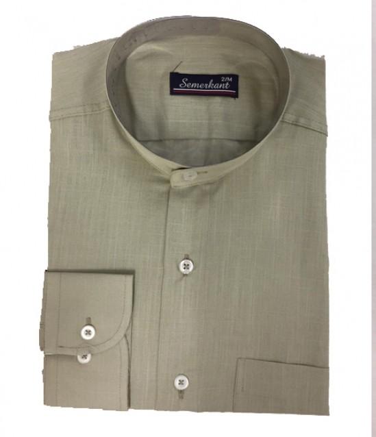 Hakim Yaka Keten Erkek Gömlek - No:6022