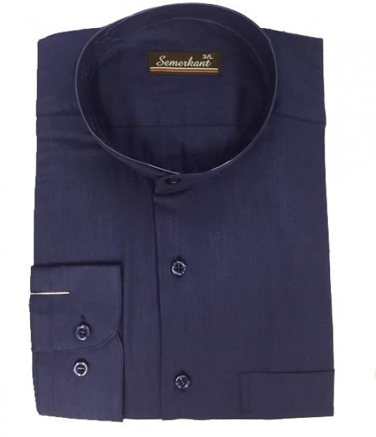 Semerkant Hakim Yaka Keten Erkek Gömlek - No:6022