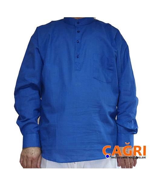 Hakim Yaka Keten Erkek Gömlek - No:4184