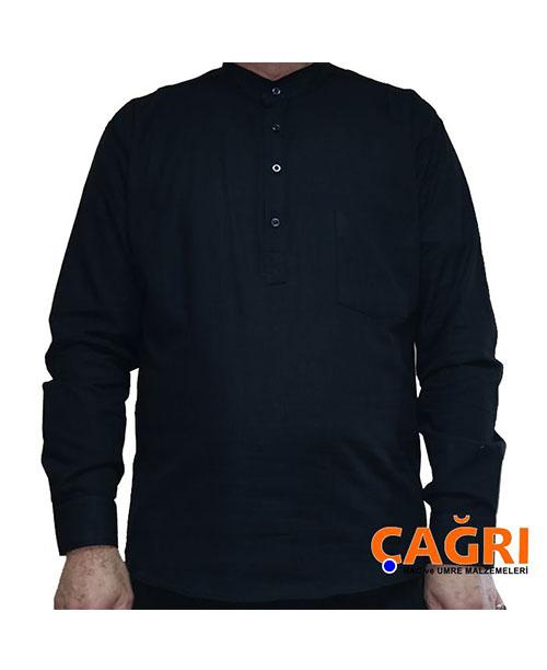 Hakim Yaka Keten Erkek Gömlek - No:4185