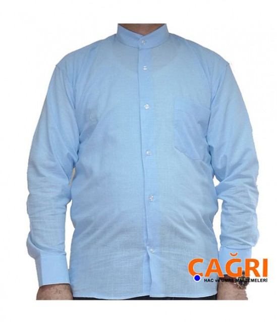Hakim Yaka Keten Erkek Gömlek - No:4187