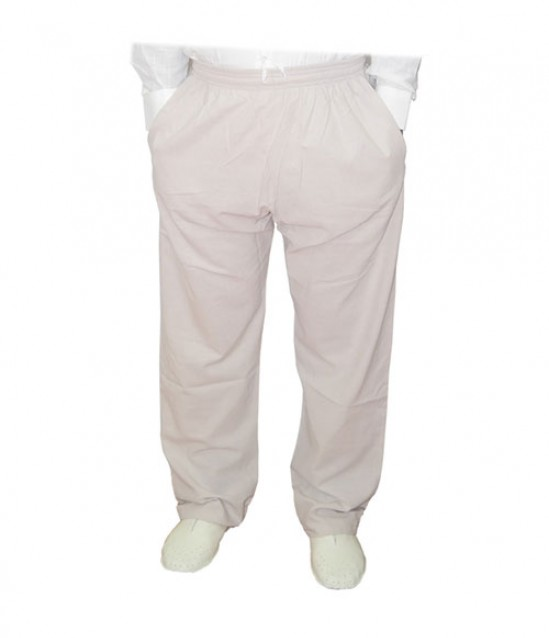 Erkek Umre Pantolonu Berat Keten Şalvar Pantolon - Bej