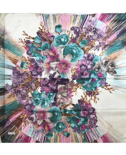 Pamuklu Yemeni Renkli Çiçek Buketleri Desenli