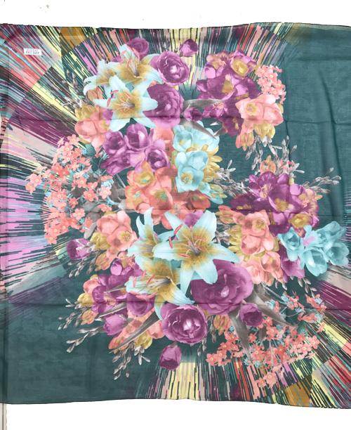 Pamuklu Yemeni Renkli Çiçekli Desenli