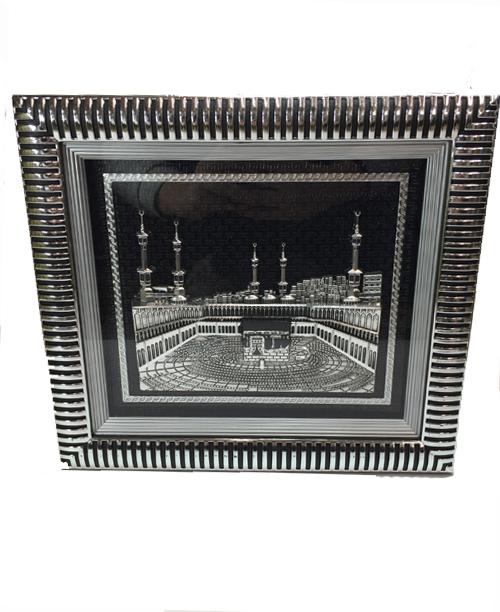 Kabei Muazzama 3 Boyutlu Tablo Gümüş