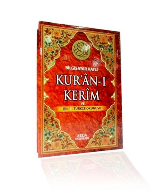Kuranı Kerim Türkçe Okunuşlu - Renkli Orta Boy