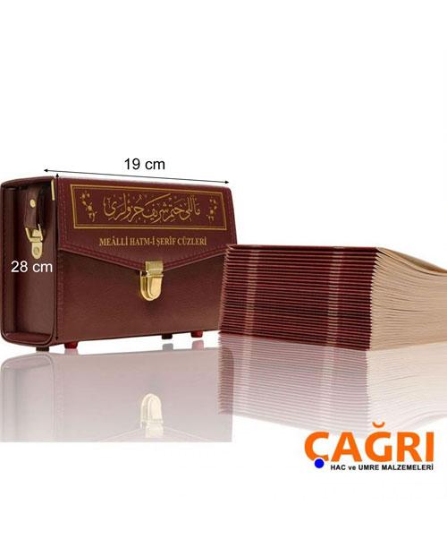 Orta Boy 30 Cüz Kuranı Kerim - Mealli, Karton Ciltli, Çantalı