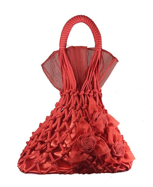 Kırmızı Fileli Çanta