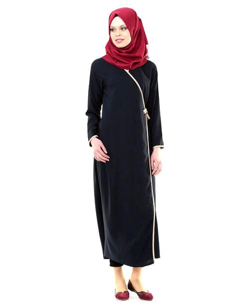 Namaz Elbisesi - Yandan Bağlamalı - Lacivert - No:10