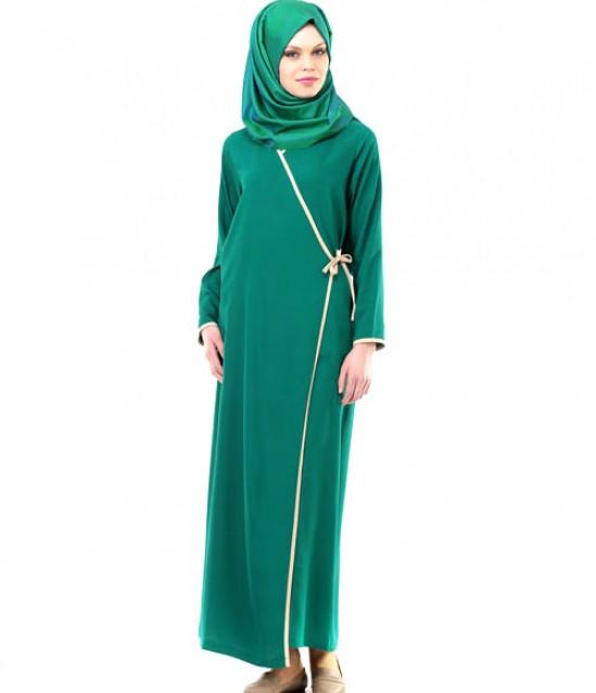 Namaz Elbisesi - Yandan Bağlamalı - Yeşil - No:12