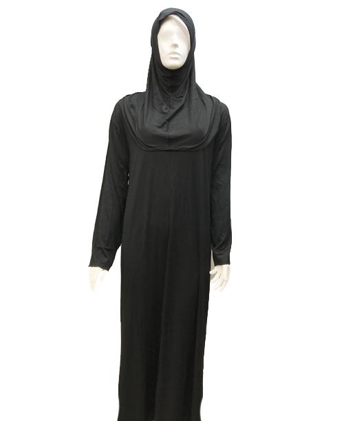 Penye Tek Parça Namaz Elbisesi-siyah